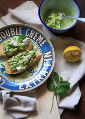 Avocado + Mint Toasts
