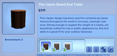 The Llama Stand End Table