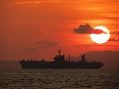 SIHANOUKVILLE, Cambodia (May 1, 2012) U.S. 7th Fleet flagship USS Blue Ridge (LCC 19) sits anchored off the coast of Sihanoukville during a port visit. (U.S. Navy photo by Lt. Cmdr. Sarah A. Stancati)