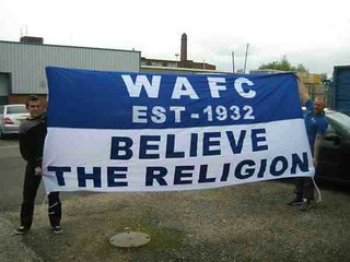 Wigan Athletic flag!
