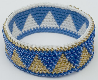 Bead Tapestry Crochet Cuff Bracelet