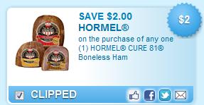 Hormel Cure 81 Boneless Ham Coupon