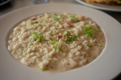 Blue swimmer crab risotto