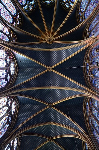 Sainte Chappelle ceiling, Paris