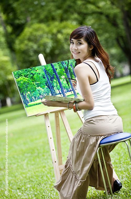 chụp hình chân dung model Vũ Ngọc Phương Trâm