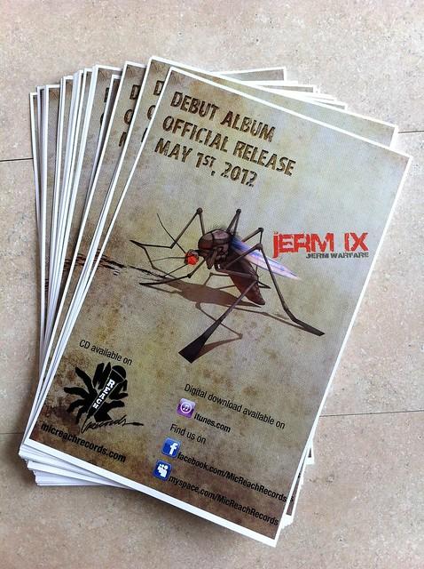 jerm IX debut album promo posters