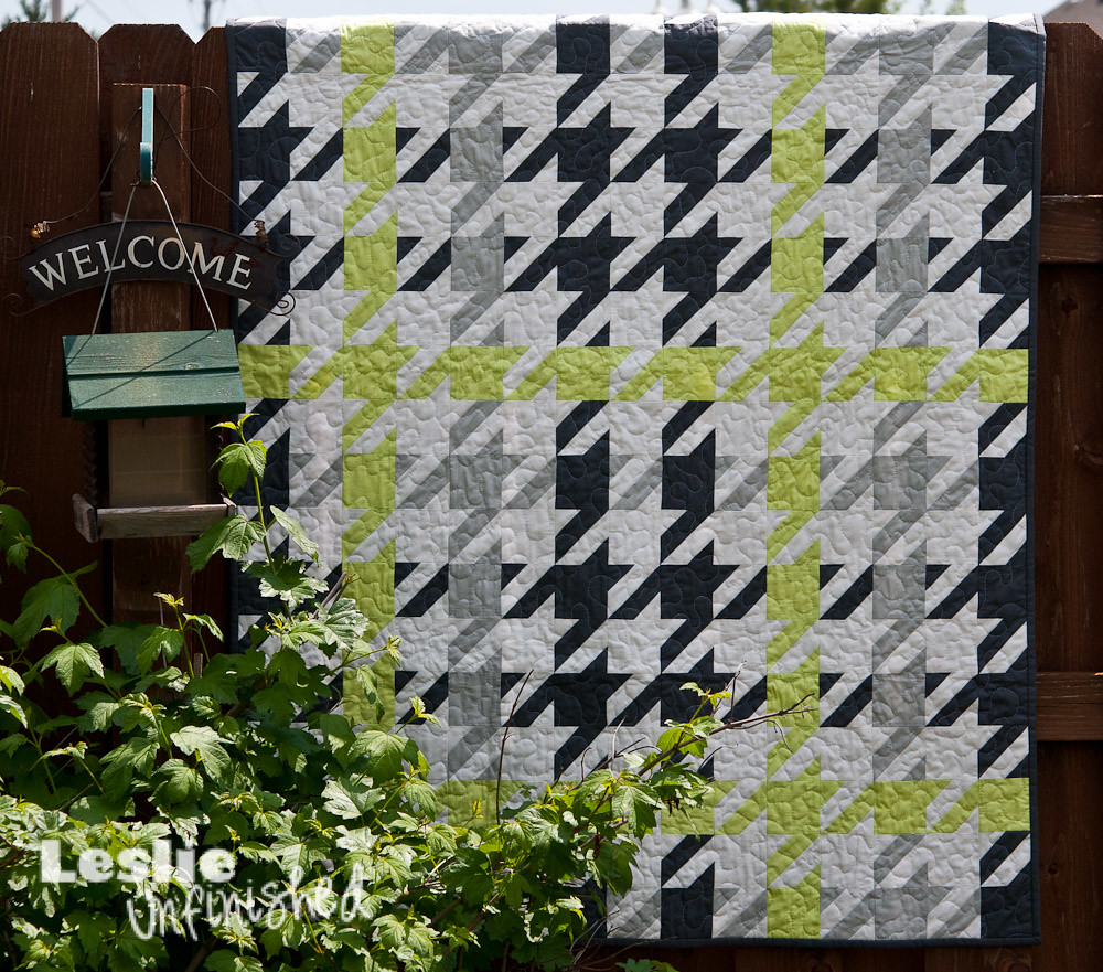 Plaid Houndstooth Quilt