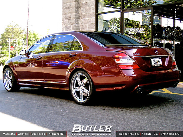 Mercedes S550 With 20in Mandrus Mannheim Wheels A Photo