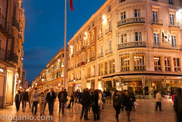 Street scene in Malaga, Spain