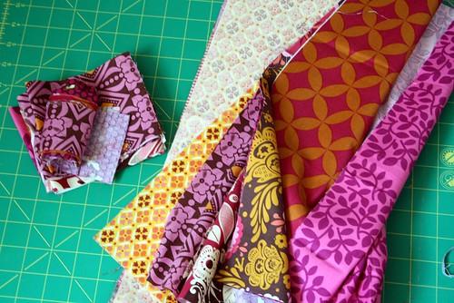 Precious fabrics cut into.