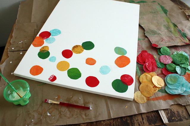 Eric Carle style monogram collage