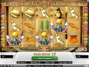 Secrets of Horus bonus game