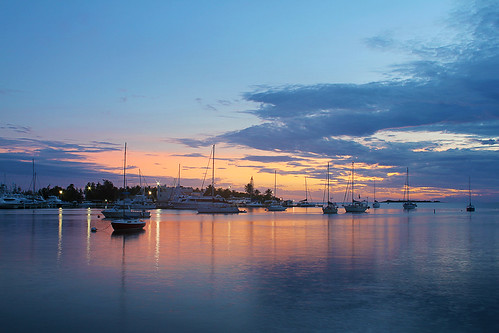 sunset sea reflection water puerto boat rico sail caribbean ponce canonef24f28