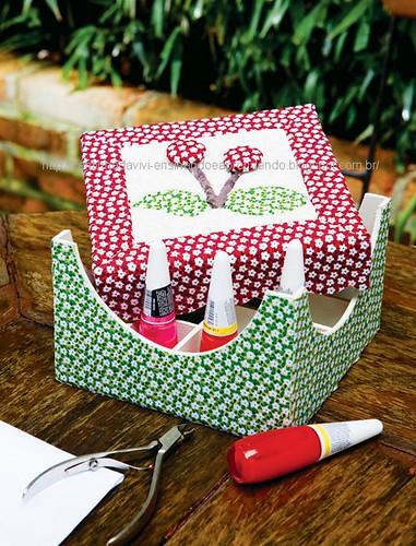 Porta-esmaltes de carton mousse by Vivianny Arte e Cia
