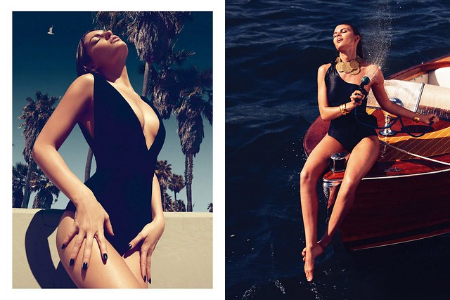 Alyssa Miller Plays Swimsuit Babe for Koray Birand in GQ Turkey's June Cover Shoot, Maryna Linchuk by Alexi Lubomirski for Vogue Germany April 2012