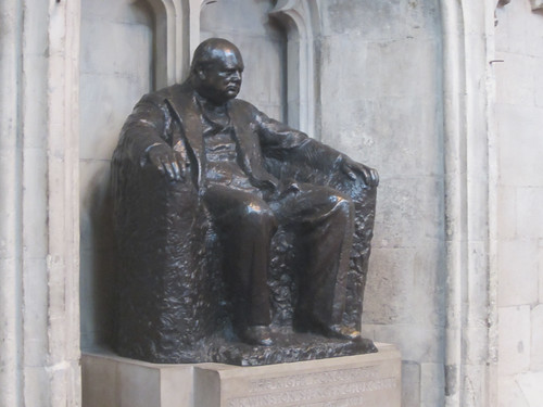 Winston Churchill in the Guildhall