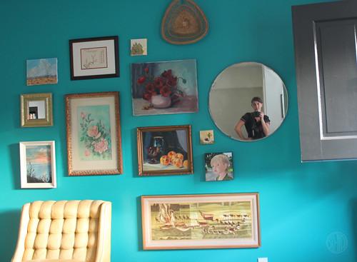 self portrait in my round mirror