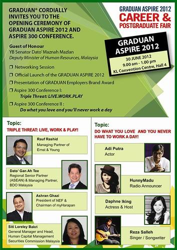 Poster Graduan Aspire 2012