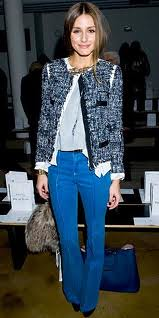 Olivia Palermo Tweed Jacket Celebrity Style Women's Fashion