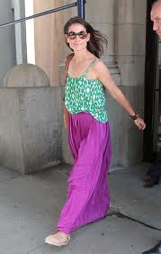 Katie Holmes Maxi Skirt Celebrity Style Women's Fashion
