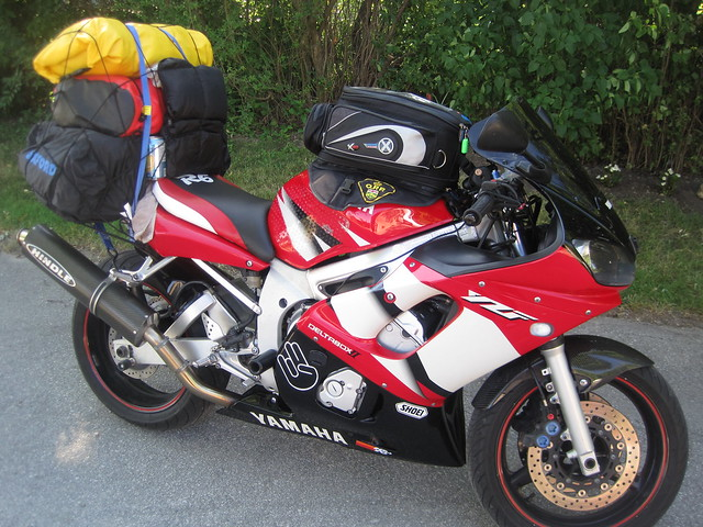 Can you fit this much on your sport bike? lol