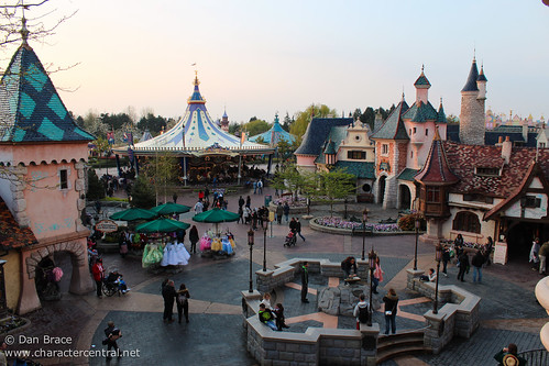 View over Fantasyland from the Castle Balcony