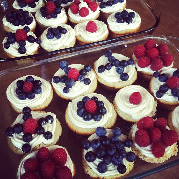 Patriotic cupcake #fun! Happy 4th of July!!! #photoadayjuly