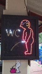 Lighted Pee Sign