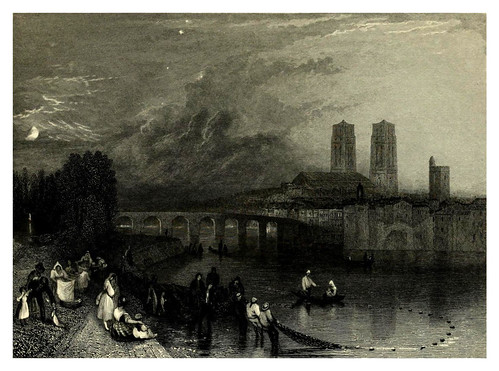 021-Mantes-Wanderings by the Seine from Rouen to the source 1835- Joseph Mallord W.Turner
