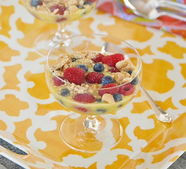 Lemon Curd with Berries