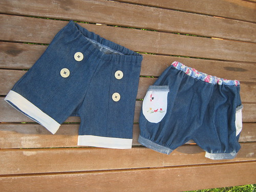Sailor Shorts and puffed and cuffed shorts