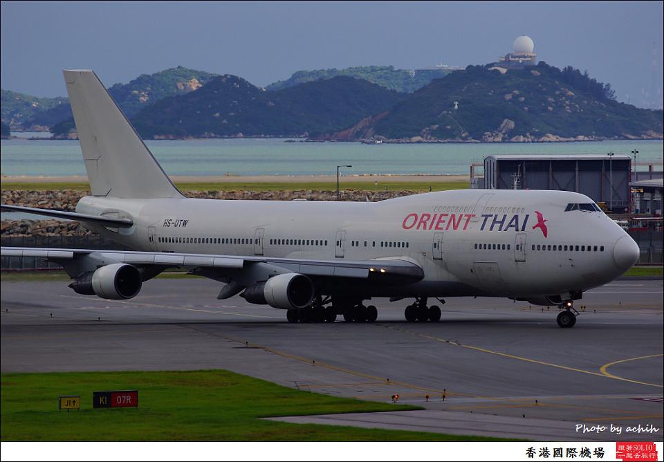 Orient Thai Airlines / HS-UTW / Hong Kong International Airport