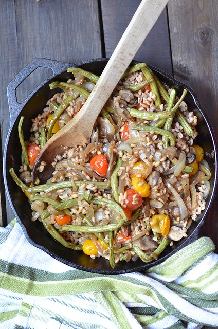 Roasted Vegetable and caramelized onion Farro Salad | Fork Vs Spoon