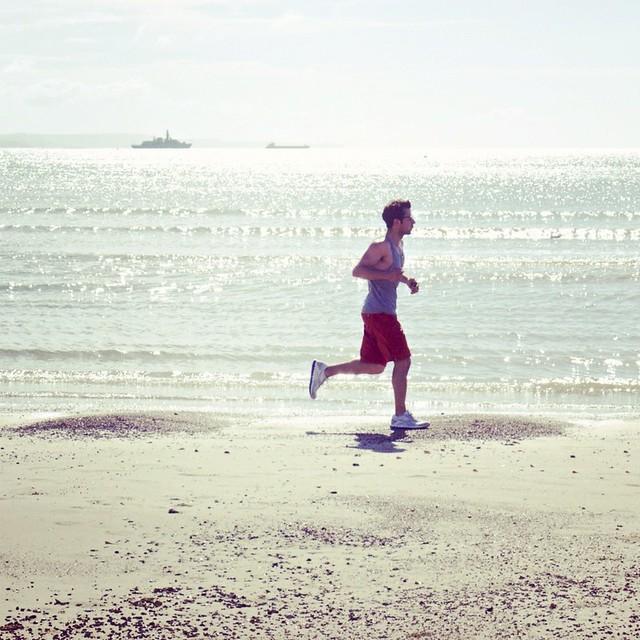 as he ran...