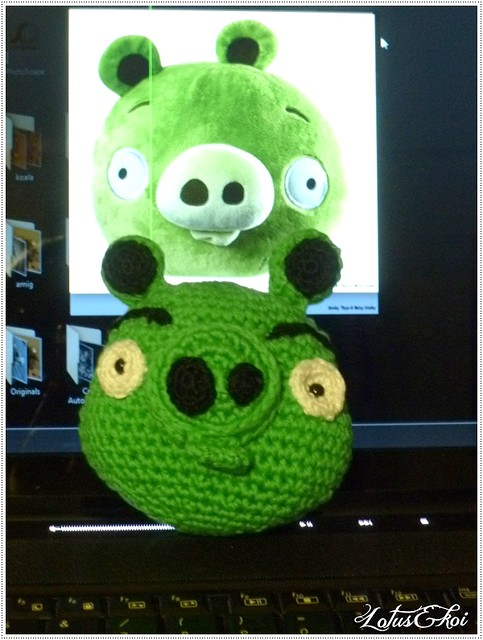 Amigurumi Green Pig : Green Pig Angry Birds Amigurumi Flickr - Photo Sharing!
