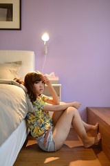 [フリー画像素材] 人物, 女性 - アジア, 女性 - 座る, 台湾人 ID:201207230800