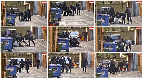Brutalidad policial en IruñeaWeb