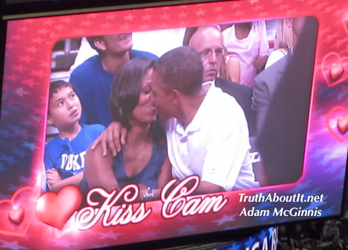 """president obama"" ""michelle obama""  ""kiss"" ""kiss cam"" ""truth about it"" ""adam mcginnis"" ""team usa"" ""brazil"" ""basketball"""