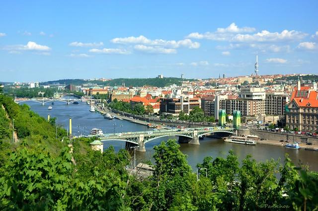 Prague : Svatopluk Čech Bridge  ( Čechův most )