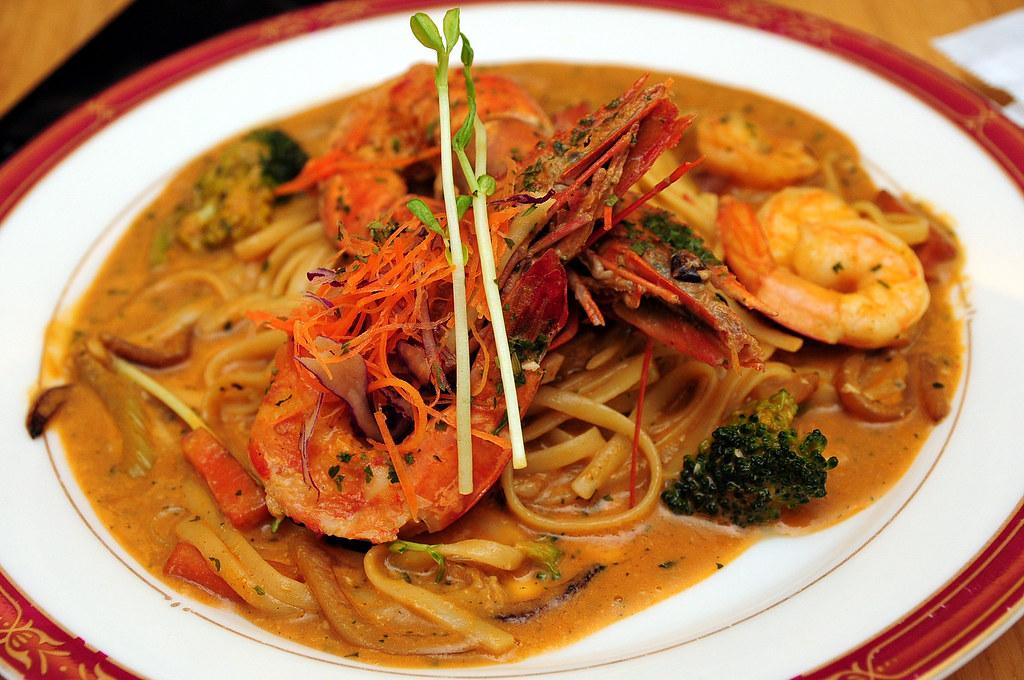 吉娜紐西蘭異想廚房 - 鮮蝦與鮮蝦醬義大利麵