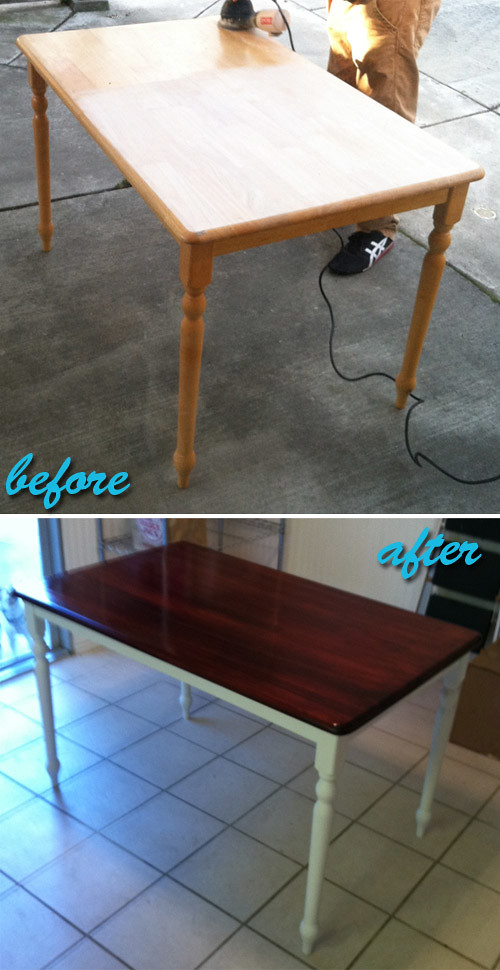 farmhouse table before after