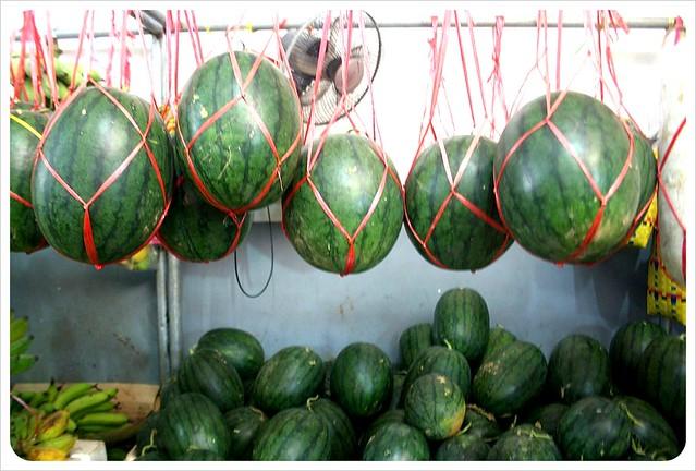 phnom penh central market water melons