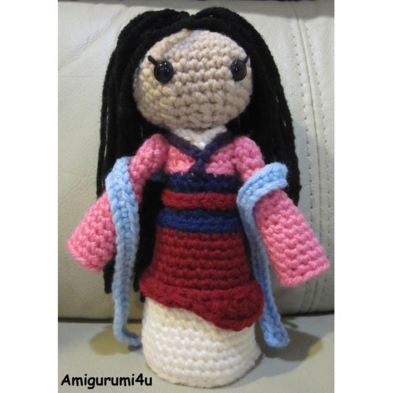 Mulan Disney Princess Handmade Amigurumi Crochet Doll ...