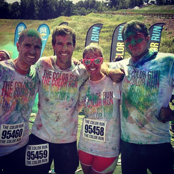 @wolos @kjlafoy @devanderlin Team Gobstoppers! #colorrun