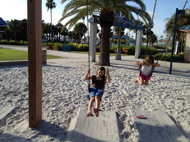 Beth & Emma swinging