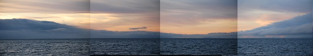 Four frames of San Francisco Bay