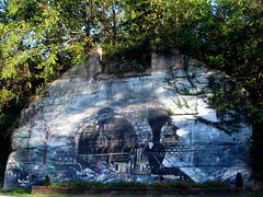 Steam Train Mural - Bluff City, TN