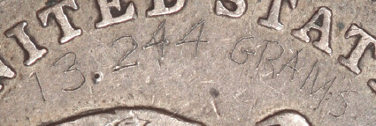 Engraved 1840-O Half Dollar reverse closeup