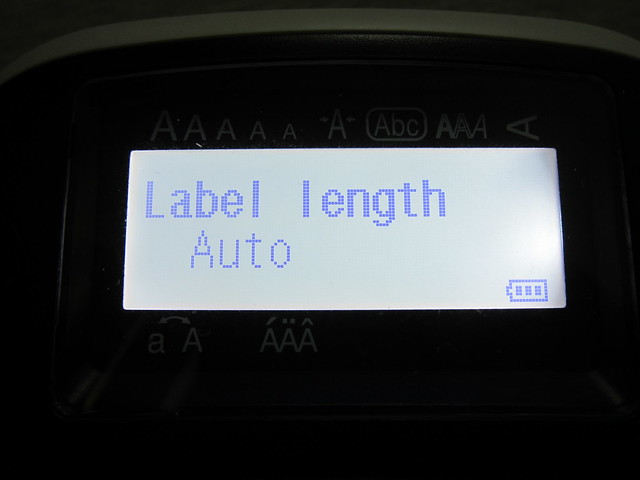 Epson LabelWorks LW-400 - Label Length
