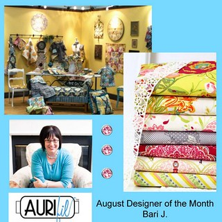Aurifil August Designer of the Month Bari J.